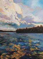 Inzana Lake 18 x 24